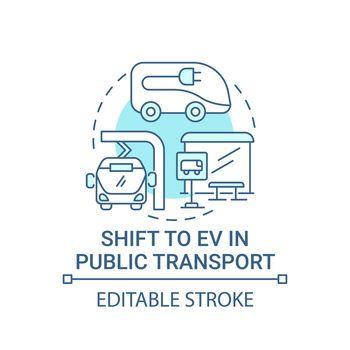 Eco green public transport concept icon.