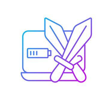 Combat games gradient linear vector icon