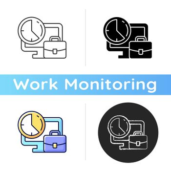Set working hours icon