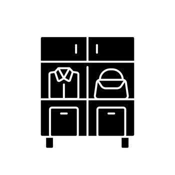 Home organization black glyph icon