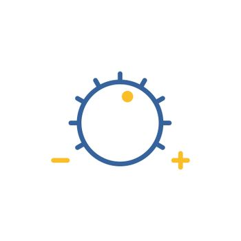 Volume knob vector flat icon
