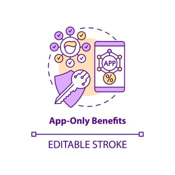 App-only benefits concept icon