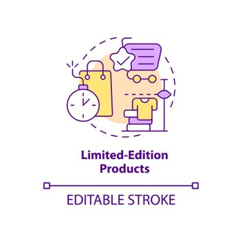 Limited-edition products concept icon