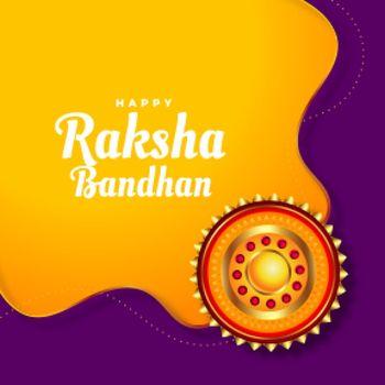 greeting design for raksha bandhan festival