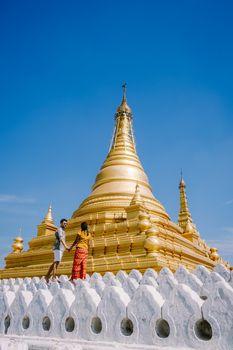 Kuthodaw temple at Mandalay city of Myanmar Burma