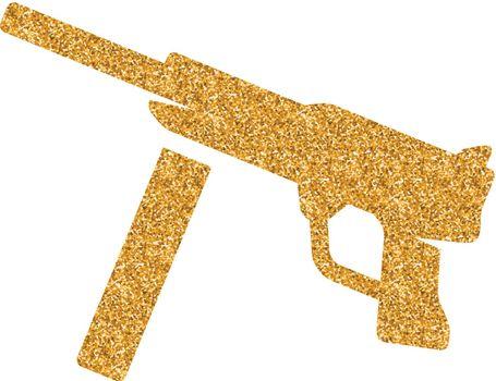 Gold Glitter Icon - Vintage Firearm