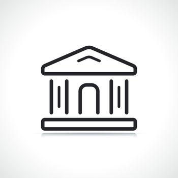 justice or bank building icon