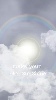 Sun halo vector sky template for social media story