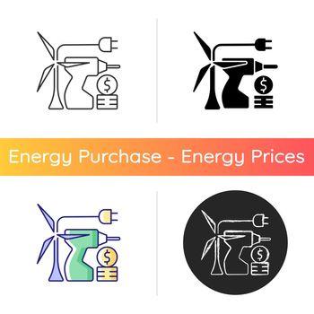 Energy equipment installation price icon
