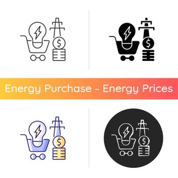 Electricity demand icon