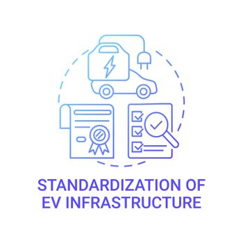 EV infrastructure concept icon.