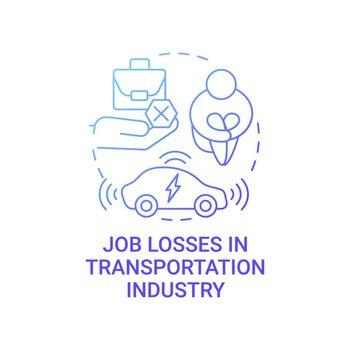 Future transport unemployment threat concept icon.