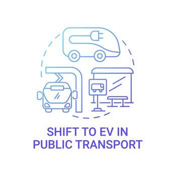 Public transport future concept icon.