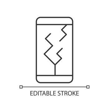 Screen damage linear icon
