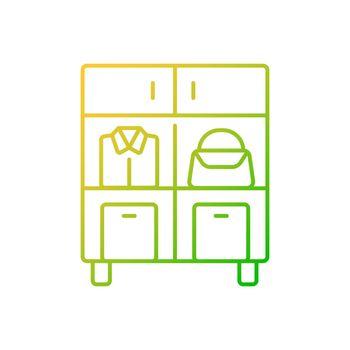 Home organization gradient linear vector icon