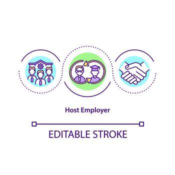 Host employer concept icon