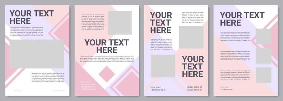 Cosmetology brochure template