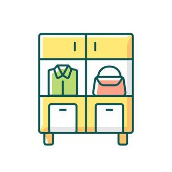 Home organization RGB color icon