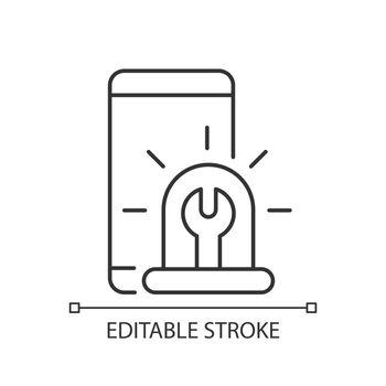Urgent phone repairs linear icon