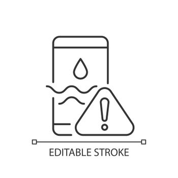Water damage linear icon