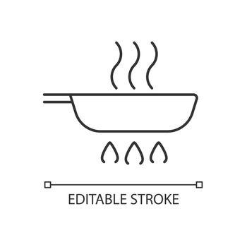 Fry pan linear icon