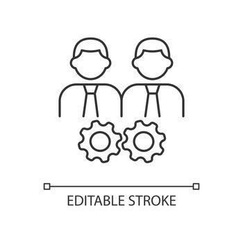 Collaboration linear icon