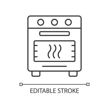 Bake in oven linear icon