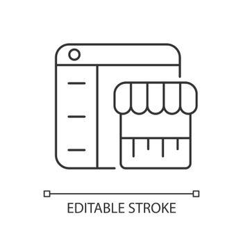 Online marketplace linear icon