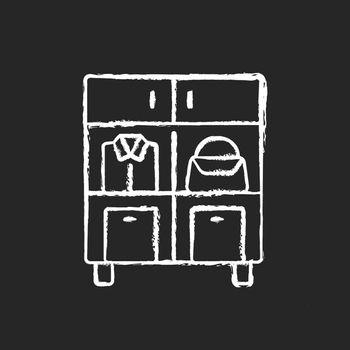 Home organization chalk white icon on dark background