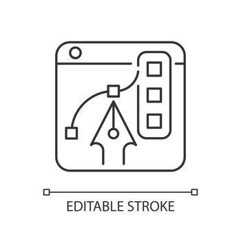 Graphic design platforms linear icon