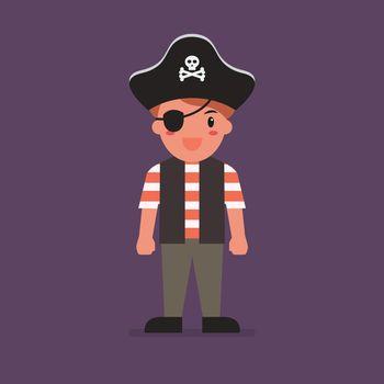 Kid wearing a pirate costume