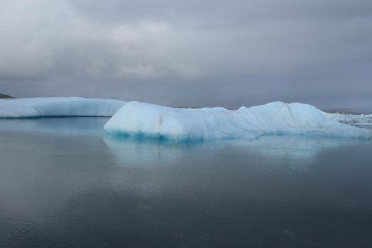 iceberg float in a lake