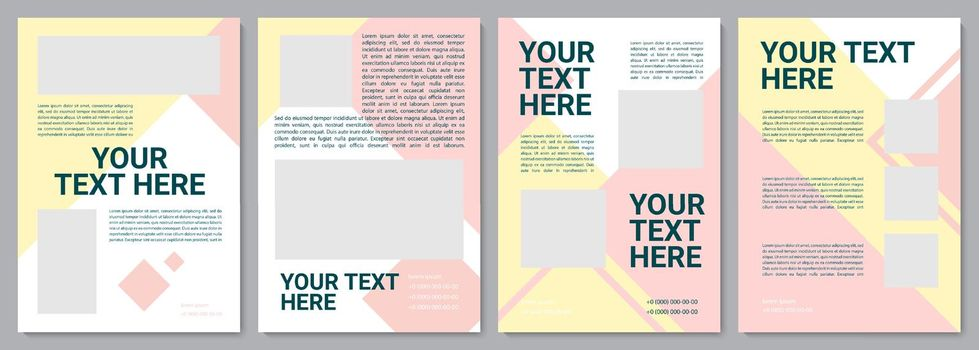 Multicolor unique brochure template