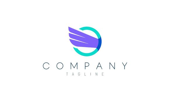 wing circle vector design concept. A suitable logo to represent freedom, courage and happiness.