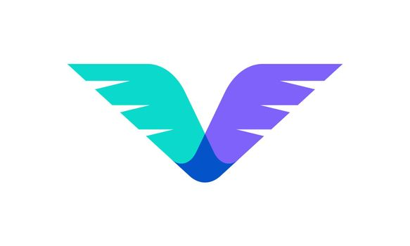 Vector design of wings. Suitable as a logo that represents freedom, courage and happiness.