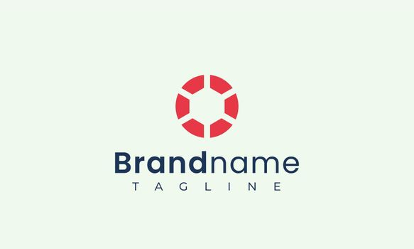 Abstract circle logo template that represents strength and passion is suitable for tech brands