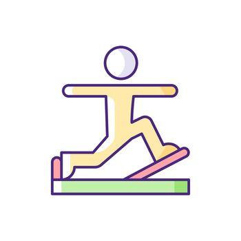 Pilates RGB color icon.
