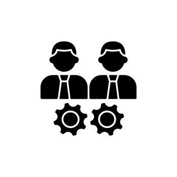 Collaboration black glyph icon