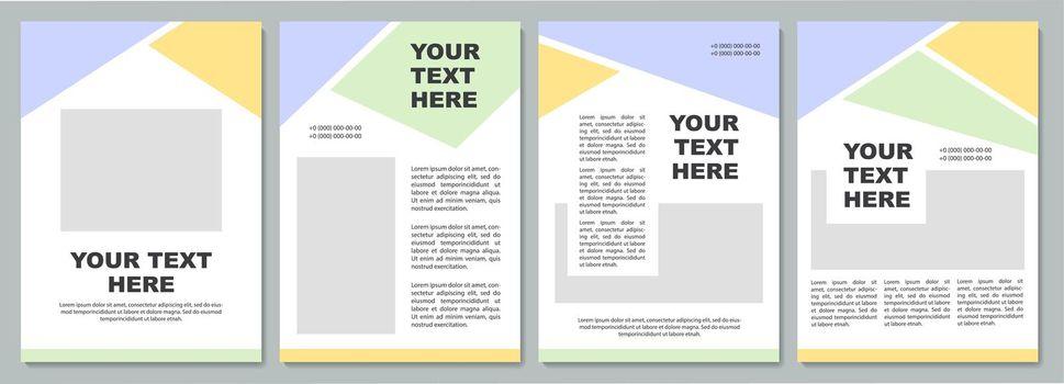 Company strategy unique brochure template