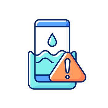Water damage RGB color icon