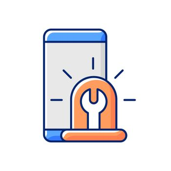Urgent phone repairs RGB color icon
