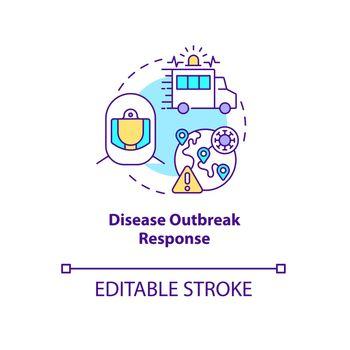 Disease outbreak response concept icon.