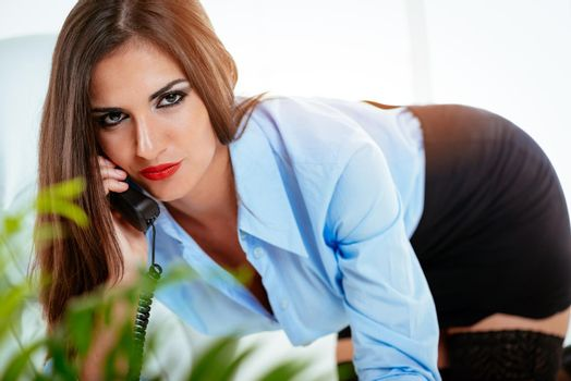 Sexy Secretary Phoning