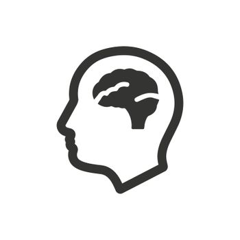 Psychology icon. Meticulously designed vector EPS file.