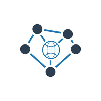 Global connectivity / Global network icon. Meticulously designed vector EPS file.