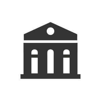 Bank Building icon. Meticulously designed vector EPS file.