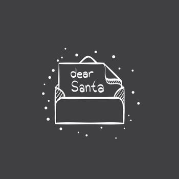 Sketch icon in black - Letter