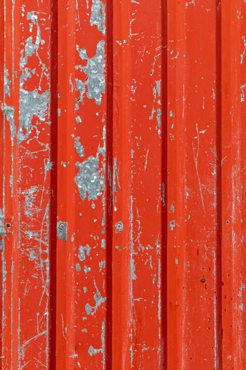 Red Paint Corrugated