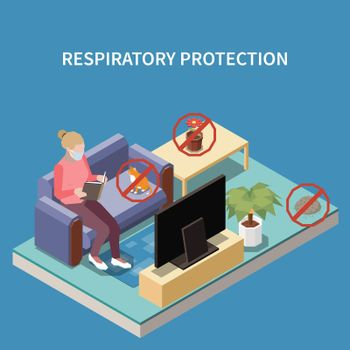 Allergy Protection Isometric Composition