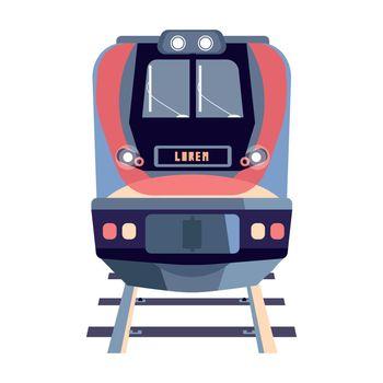Flat Train Illustration